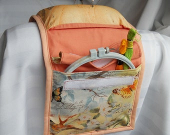 Spring Fling Armchair Sewing Caddy Hand Sewing Organizer