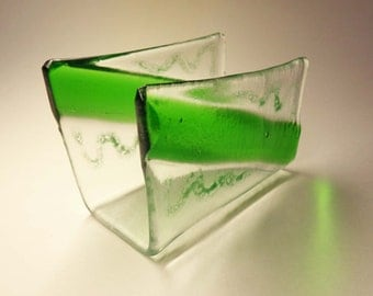 Clear Recycled Glass Business Cards holder - CUSTOM MADE ITEM