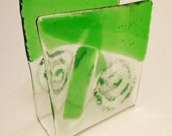 Recycled Clear Glass Napkinholder - CUSTOM MADE ITEM