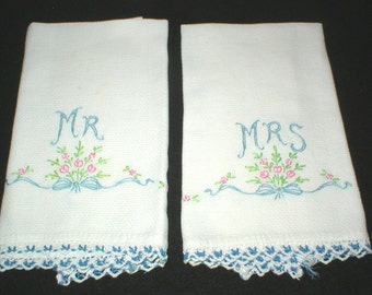 Mr and Mrs Towels Embroidered