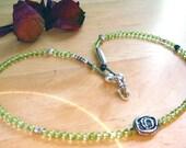 Gentle Spiral Dance Through Life - Necklace / Artisan Silver , Peridot, Tourmaline