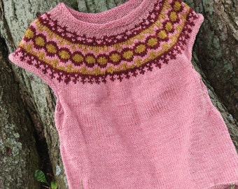 women's rosemary hand-knitted wool vest. . .
