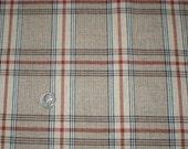 4 Yards 62 Wide Vintage 80s Wool Blend Plaid Fabric