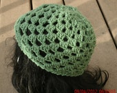 Crochet Hat for Women -The Juliet Hat in Sage - Cap - Spring, Fall Accessories - READY TO SHIP