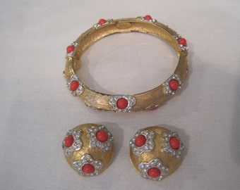 vintage Kenneth Jay Lane bracelet and earrings