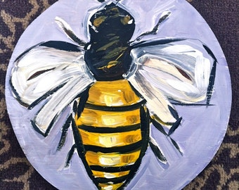 Hand Painted Honey Bee  Lazy Susan