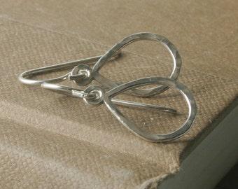 Petite Sterling Silver Teardrop Earrings