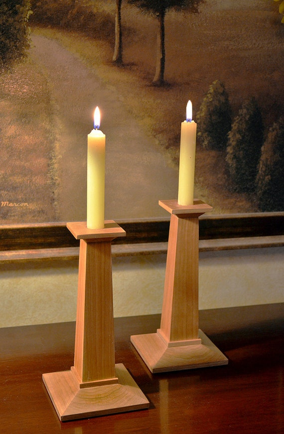 Mission Style Candle Holders by NewMissionWorkshop on Etsy