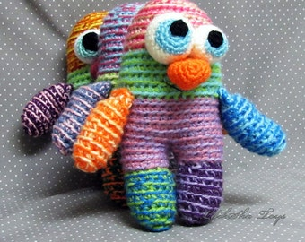 Crochet toy  Amigurumi Pattern -Little Colorful Monster.