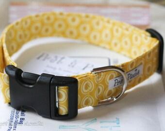 Dog Collar: Yellow pattern