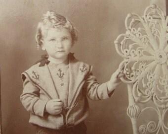 Antique Photograph Studio Boy