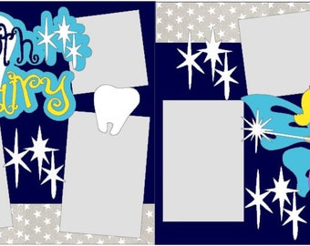 Tooth Fairy 2-page 12x12 do-it-yourself scrapbook kit