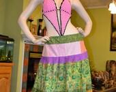 Gypsy Hippie Patchwork Skirt  Or Halter Top