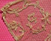 Antique Lace Vintage Lace Silk Tulle Handmade Lace