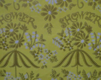 Vintage Shower  Gift Wrap 1970s Wrapping Paper-Cheery Yellow for Wedding or Baby Shower Gift