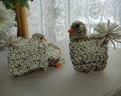 Crocheted  Easter Chickens - set of four