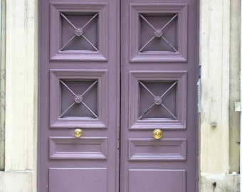 Paris Lavender Purple doorway, Paris Photography,  Fine Art Photograph - Purple door Photo - Paris Decor, Easter lavender
