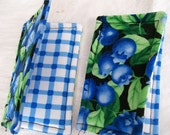 BLUEBERRIES MICROWAVE POTHOLDERS