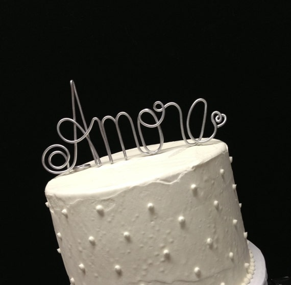Italian Themed Wedding Ideas: AMORE Cake Topper Italian Theme Wedding Anniversay And