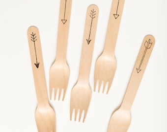 Arrows - Forks Spoons Or Knives - Perfect Alternative To Plastic Utensils For Parties