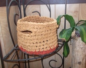 Handmade Recycled Basket