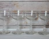 Vintage Champagne Goblets- set of four