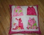 Reserve listing for sherrydhanson Shift dress pillow made with assorted Lilly Pulitzer fabrics
