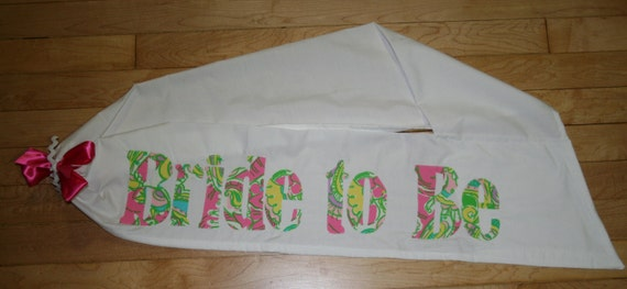 Bachelorette Sash made with Lilly Pulitzer Chin Chin Fabric