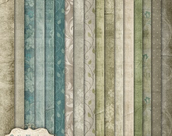 The Measure of Time - Digital Scrapbooking Paper Pack  - 17 Great Papers - 8.5 x 11 Inches - INSTANT DOWNLOAD - 2.75