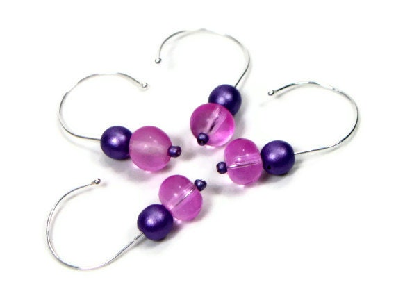 Removable Stitch Markers Set, DIY Crochet, Snag Free Stitch Markers, Gift for Crochet, Lilac, Purple, Pink,TJBdesigns