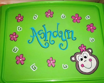 Personalized Lap Tray-Monkey