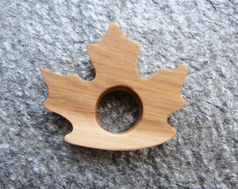 READY TO SHIP - Wooden Maple Leaf Teether