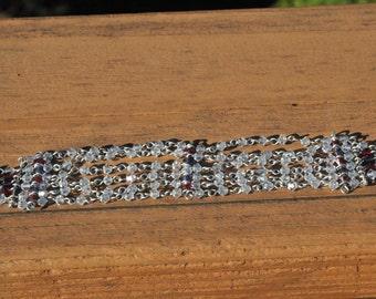 6 strand Crystal bead bracelet