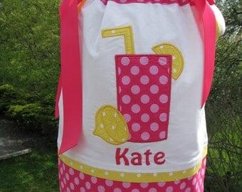 Pink lemonade pillowcase dress, first birthday, 2nd birthday, lemonade birthday dress, pink lemonade