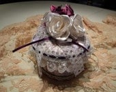 Victorian Miniature Keepsake Gift Box/Miniature Hat Box/Tree Ornament