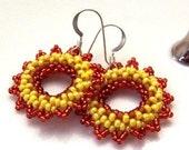 Bright Copper Sunset Earrings