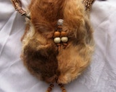 Vintage Native American Fur Purse Handbag Cherokee Handmade Collectible - ReDuCeD