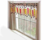 Morse Code Stained  Glass Window Treatment Window Valance