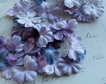Soft Fiber Paper Flowers Lot