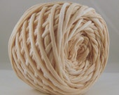 T-Shirt Yarn Hand Dyed- Lightest Beige 60 Yards