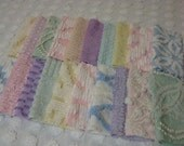 20 Vintage Chenille Squares 6 Inch -  Assorted PASTELS