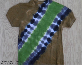 Camouflage Bandolier Tie Dye T-Shirt (Fruit of the Loom Size S) (One of a Kind)