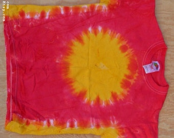 The Sun Tie Dye T-Shirt (Fruit of the Loom Size Youth M 10-12) (One of a Kind)