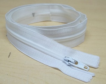 White zippers,25.5 inches long,zippers,sewing,crafting projects,costume making