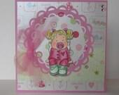 Tingla Baby Girl Congratulations Card