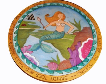 Lazy Susan/ Mermaid/ Personalized Wedding Gift/ Bride and Groom gift/ Wedding/ Anniversary Gift