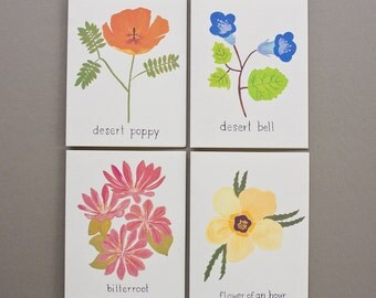 Flowers of North America Cards // Set of 8