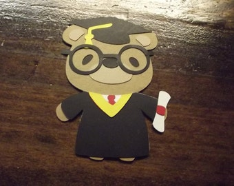 Teddy Bear die cut- graduation
