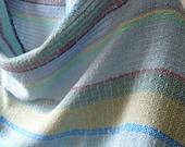 Handwoven Shawl, Woven Scarf, Wrap, Seascape