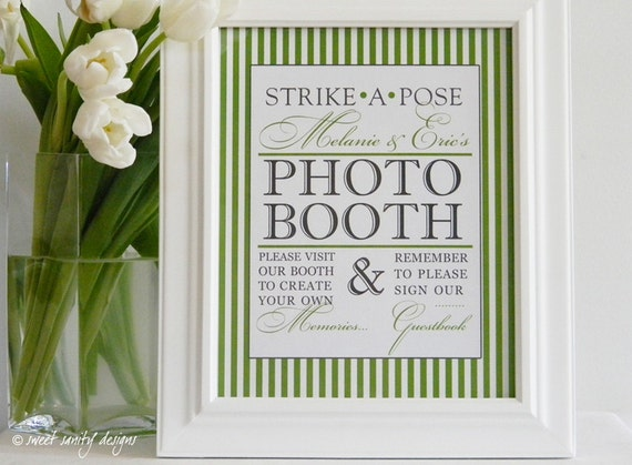 Reception Print - Photobooth Strike a Pose // Photo Booth, Sign Our Guestbook